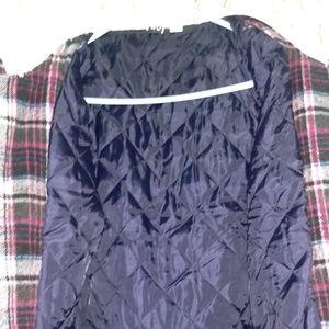 Roxy Jackets & Coats - ❄ROXY plaid faux sherpa collar jacket
